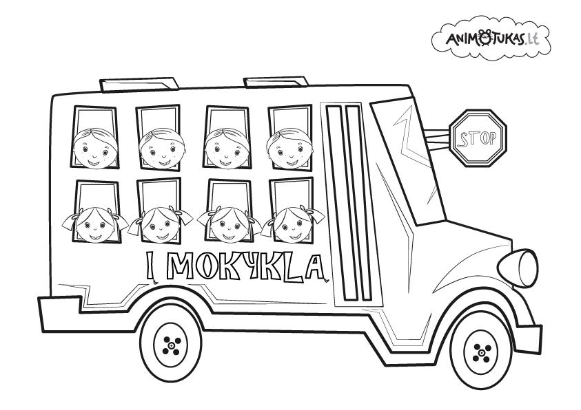 Autobusiukas, plauke zasele, animacija