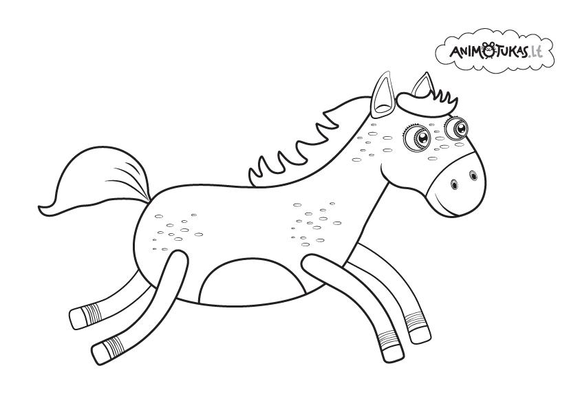 arklys, animotukas, spalvinimas, tiliduda
